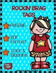 This free set of fun brag tags will be a huge hit with your students!  Tuck them inside of a birthday bag, use them as rewards for good behavior, or use them to acknowledge other important milestone events and positive behaviors as the school year progresses!Print as many as you need in color, or just copy the blackline templates onto bright neon cardstock.