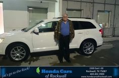 https://flic.kr/p/EJXYw2 | Happy Anniversary to Ronnie on your #Dodge #Journey from Art Sanders at Honda Cars of Rockwall! | deliverymaxx.com/DealerReviews.aspx?DealerCode=VSDF