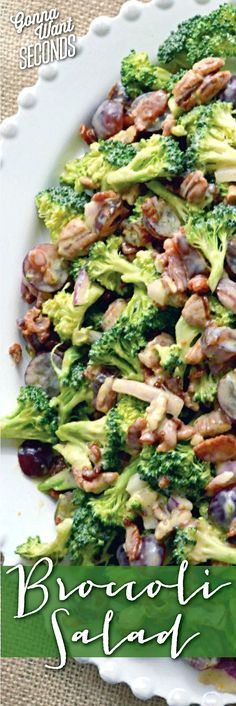 This Broccoli Salad is the best I've ever tried! It's absolutely loaded with yummy flavors. Broccoli, bacon, grapes, dates, and cheese all tossed in an amazing homemade sweet orange dressing that will totally rock your taste buds!!! Say hello to your new favorite salad :)