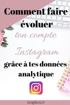 Comment faire évoluer ton compte Instagram grâce à tes données analytique ? Creative Instagram Names, Instagram Hashtags For Likes, Tbh Instagram, Instagram Quotes, Seo Tutorial, Pinterest Marketing, Social Media, Impression, Friends