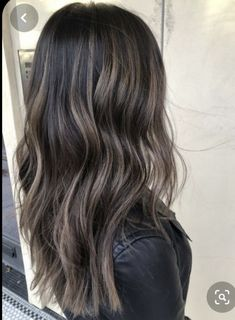 43 Top Ideas For Balayage Hair Brunette Fall Black Hair With Highlights, Hair Color For Black Hair, Lowlights For Black Hair, Ombre On Black Hair, Chocolate Brown Hair With Highlights, Light Brown Ombre Hair, Grey Brown Hair, Hair Color Asian, Gorgeous Hair Color