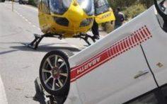 Brutto incidente sulla Comiso - Santa Croce Camerina: cinque i feriti #incidente #auto #fiat500.elicottero.118