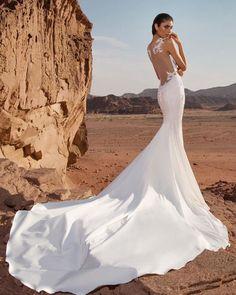24 Stunning Trend: Tattoo Effect Wedding Dresses ❤ tattoo effect wedding dresses fit and flare illusion lace pninatornai #weddingforward #wedding #bride #weddingoutfit #bridaloutfit #weddinggown