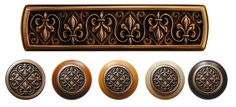 The Fleur-de-Lis Decorative Knobs  Pulls from Notting Hill Hardware are part of the Olde World Hardware Collection. Handcrafted in the USA featuring multiple finishes including artfully crafted drawer pulls and solid pewter knobs with several matching sets including wood knobs in 4 finishes to match any decor!.