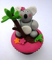 Kuala Bear Cup cake topper