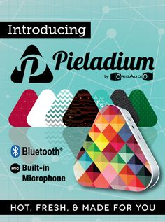 Pieladium - Your hot and fresh Pieladium Bluetooth speaker delivers undeniably bold sound that will spice up any party. Carry out your own personal pan of rocking music up to 33 feet without ever tripping over messy cords or wires. With mouth-watering sound you're sure to crave, you'll want a Pieladium with every meal!