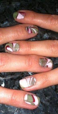 #DIY Water Marble Nail Art