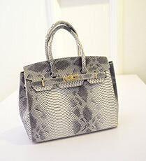Vegan Leather Alligator Skin Bags Women Handbag Shoulder Blue Black Gray and Hot Pink