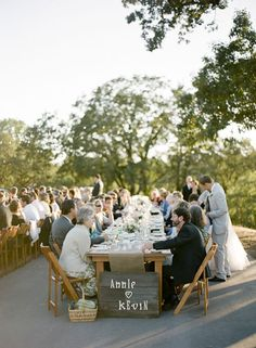 love the long tables!