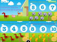 'Contando Con Los Animales' - another learning game by Diana to teach kids counting with fun farm animals!