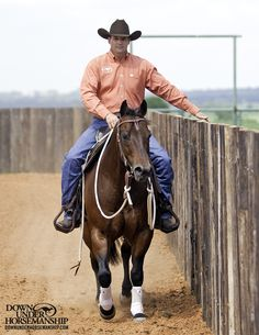 Riding Exercise #5: Follow the Fence Goal: To have the horse trot and canter around the outside of the arena along the fence on a loose rein without help from the rider. The horse should maintain his gait and direction by himself. More about the exercise: https://www.downunderhorsemanship.com/Store/Product/MEDIA/D/252/