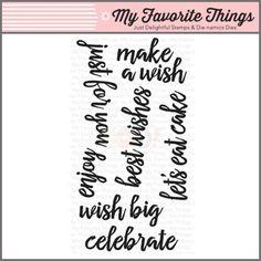 My Favorite Things Clear Stamp - Brushstroke Birthday