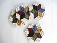 Handmade Fabric Coasters  Quilted Coasters  Mug Mats  by dlf724, $17.00