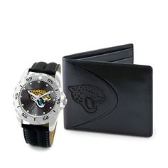Jacksonville Jaguars Watch & Wallet Set for Men