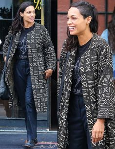 Rosario Dawson; I wish I could pull off her hairstyle. She's one of my favorite celebrities of all time.