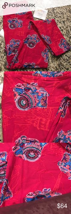 NEW Lularoe OS One Size Leggings Pink Cameras Unicorn alert!! Cameras on bright pink background with light pink landmarks. One size Lularoe leggings. Brand new, never worn or washed, purchased directly from a consultant. Open to offers! Made in China. LuLaRoe Pants Leggings