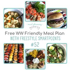 WW friendly meal plan with FreeStyle Smart Points - Meal Planning Mommies Ww Recipes, Popular Recipes, Dinner Recipes, Healthy Recipes, Healthy Meals, Weight Watchers Lunches, Weight Watchers Meal Plans, Chicken Fajita Bowl, Fajita Bowls