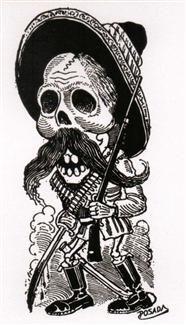 """... de un Revolucionario Zapatista"""" by Jose Guadalupe Posada Sticker"""