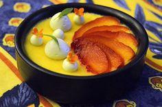 #creammould#cardamom #honey#peaches#mousse#verbena#sweet#fresh#flowers#summer
