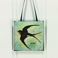 Soar  Barn Swallow Little Bird Ornament Whimsical Wild Bird