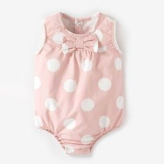 La Redoute R baby Sleeveless Polka Dot Print Romper Suit - ShopStyle Clothing Newborn Girl Dresses, Baby Dress, Trendy Baby Clothes, Baby Kids Clothes, Baby Girl Fashion, Kids Fashion, Toddler Outfits, Kids Outfits, Fall Outfits 2018