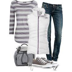 white puffer vest, g