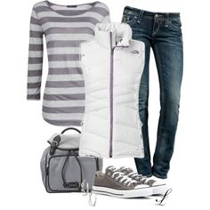 Love this outfit, anything on here would be awesome, jeans, vest, chucks or top!