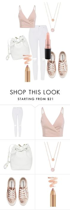 """""""Untitled #77"""" by selin-a-s on Polyvore featuring Topshop, Mansur Gavriel, Michael Kors, Superga and MAC Cosmetics"""
