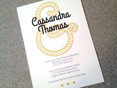 Nautical Invitation - Customize it. $15.00, via Etsy.