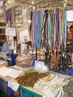 Selling beads and buttons in Tucson- Gem Mall location