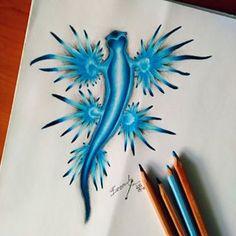 Glaucus Atlanticus  #glaucusatlanticus #wtf #drawing #draw #art #iloveit #blue