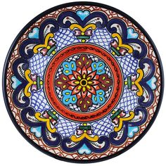 Tomas Huerta TalaveraPlate - Pattern 59 ♥️♣️♣️Talavera Mexican Pottery : More At FOSTERGINGER @ Pinterest ♣️