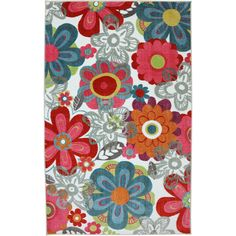 American Rug Craftsmen Crib 2 College Teen Floral Area Rug & Reviews | Wayfair