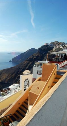 Caldera view in Fira, Santorini