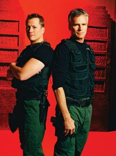Corin Nemec and Richard Dean Anderson. My Best Friend Brooke had a huge crush on Corin we even wrote him fan mail for that movie. I know My First Name is Steven.