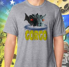 GORGO Britain's Godzilla Men's Gray Men's Tshirt