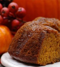 You would never know that this Spiced Pumpkin Bundt Cake is Gluten Free.  It is incredibly moist and delicious!