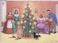 Celebrating Christmas from 'Aunt Brown, Aunt Green & Aunt Lavender' (Tant Brunt, Tant Grön & Tant Gredelin) Story & illustrations by Elsa Beskow