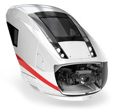 Front nose of the new German ICx high speed train