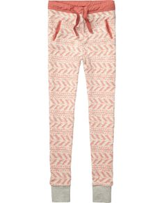worked-out sweatpants with woven details | Sweat / Jersey Pants | Girls Clothing at Scotch & Soda