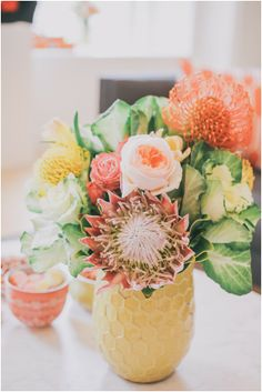 peach, orange and yellow florals | edyta szyszlo photography