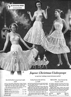 Vintage Lingerie Sears, Christmas 1958 - enlarge but mother I am a boy why do I have to pick one out for Christmas Lingerie Retro, Jolie Lingerie, Vintage Outfits, Vintage Dresses, 1950s Fashion, Vintage Fashion, 1950s Women, Lingerie Catalog, Vintage Underwear