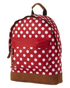 MI-PAC - POLKA BACKPACK 17L - BRIGHT RED WHITE on http://www.surfstitch.com