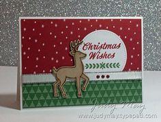 Merry Mistletoe, Santa's Sleigh, Be Merry DSP, Silver Metallic-Edge Ribbon, Regals Enamel Shapes, Stitched Shapes Framelits, Santa's Sleigh Thinlits, Decorative Ribbon Border punch, Blender pen, Early Espresso marker - The Heart of Christmas - Week 2 - 06/14/2017 (exterior)