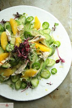 Cucumber, Chili and Orange Chicken Salad by Heather Christo