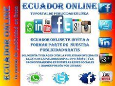 EOP #EcuadorOnline Anunciate gratis en nuestros grupos face nosotros  lo hacemos por ti Consultas y cotizaciones pulsando aqui http://ift.tt/2i80Mx2