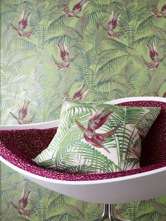 Osborne & Little furnishing fabrics and wallpaper. Photographed by Chris Everard.