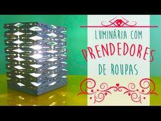 Luminária de Prendedores de Roupa - Faça você Mesma por Coisas de Jessika - YouTube