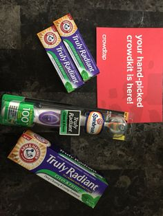 Arm & hammers new spin brush and tooth paste, loved how it made my mouth feel. So fresh and clean. Received this for free from crowdtap #gotitfree #freesample