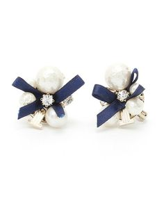 LANVIN en Bleu(ランバン オン ブルー) プチソワレブルーリボンパールイヤリング(イヤリング)|LANVIN en Bleu(ランバンオンブルー)のファッション通販 - ZOZOTOWN